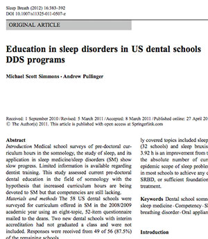 Text - Education in sleep disorders