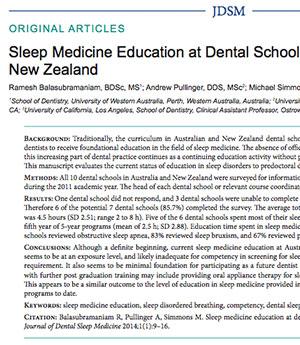 Text -Sleep Medicine Education in New Zealand